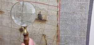 <p>Blaeu map, detail - Nationale Bibliotheek Australië</p>