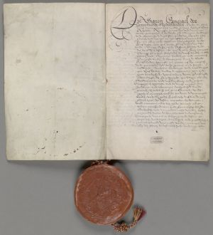 The official VOC patent from 1602 - Collection Dutch National Archives