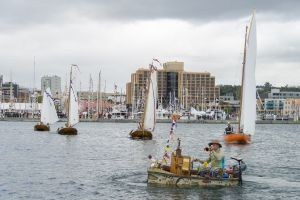 Dutch wooden boats commemorate Tasman in Hobart