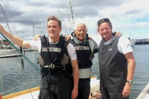 The Diephuis family, with son Lars, father André and skipper Arthur