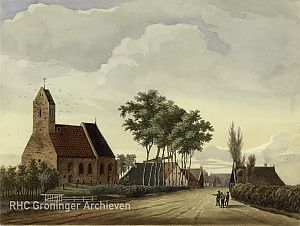 <p>This is what the church in Lutjegast must have looked like when Tasman lived there. It is no longer there. The actual church dates from 1877.</p>